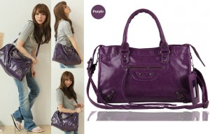Susurrus Women Bags Elegant Dark Purple Motorcycle Bag