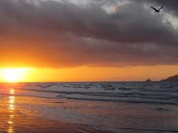 sunset at Waikaenae Beach