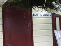 New sign on Beattie Cottage