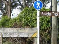 Paradise Track signs