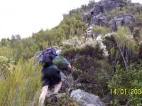Climbing Mihiwaka. Hazel