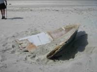 Marine Ply boat broken remains
