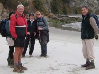 Canoe Beach group. Pat, Peter, Tash, Leoni, Lex