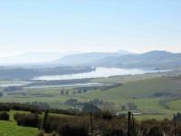 Lake Waihola from farm track