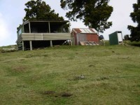6. Hut where we turned off Kowhai Spur. (Ken pic and caption)