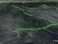 GPS of route, courtesy Ken. Leishmans Chalkies exploration. ((Ken caption)