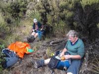 Lunch at top of Powder Ridge (Ken caption)