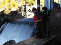 Ria and Eric at the Deep Stream Weir (Heb pic and caption)