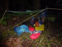 The bivvy camp (Judy pic and caption)