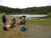 Morning tea by Cedar Creek Reservoir. (Ken pic and caption)