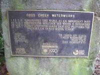 Plaque. Ross Creek Water Works. (Jphn pic)