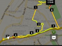 GPS of route. (Forgot to switch on until abt 1km after start from Unity Park. start.)