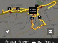 Route in km