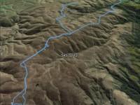 Horsehoof Station to maungatua peak. GPS of route, courtesy Ken. (Ken pic and caption)