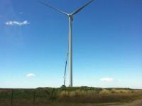 Wind turbine blade getting attention