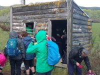 C.4) Lunch - no one wanted to eat inside this hut until the hail startedc
